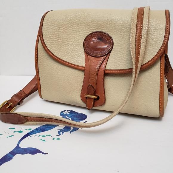 Dooney & Bourke Handbags - Vintage Dooney & Burke Bone Leather Crossbody